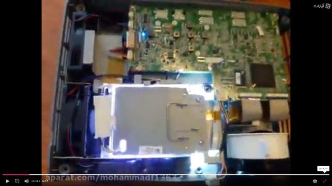 ویدئو پروژکتور دیتا روشن بدون قاب دستگاه