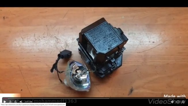 علت سوخت لامپ ویدئو پروژکتور