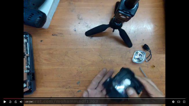اموزش تعویض لامپ ویدئو پروژکتور
